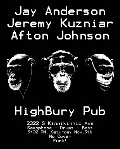 Funk Trio At the Highbury Pub